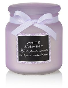 White Jasmine Large Filled Scented Candle