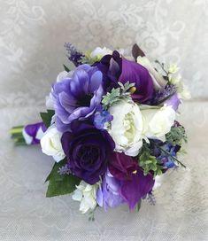Purple Wedding bouquet,Bridal bouquet,Lavender bouquet,Purple wedding flowers,Wedding accessory,Bridesmaid bouquet,Silk wedding flowers by DarlasBlooms on Etsy https://www.etsy.com/listing/577540613/purple-wedding-bouquetbridal