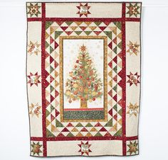 Robert Kaufman Winter's Grandeur Christmas Tree Quilt (Holiday) - White