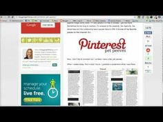 """Video: """"How to Save Time Pinning to Pinterest"""" from The Ultimate List of Pinterest Tips via @AmyLynnAndrews"""