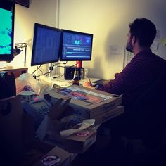 Behind the scenes on #greatbarrierreef a series clearly fuelled by @dominos_uk. (Note to self; Should have sought official sponsorship) If you zoom in past the pizza boxes you'll see my editor Dom cutting the Manta Ray sequence in Ep2 one of favourite scenes in the series. To find out more about how to protect this incredible species pls check out PROJECT MANTA. Last episode air 9pm this Wednesday @bbcone #davidattenborough #atlanticproductions by annesommerfield http://ift.tt/1UokkV2