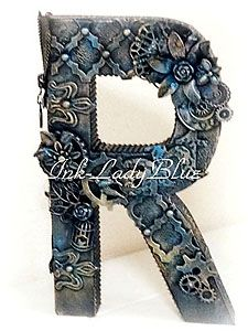 Mixed Media Steampunk Letter