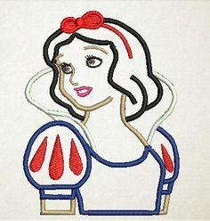 Snow White Applique Disney Princess Princess by MyIttyBittyDesigns, $2.99