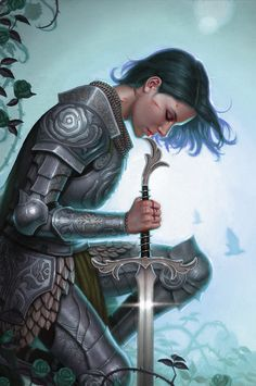 Less Than Practical Sword Posted by /u/The_Crimson to r/armoredwomen Fantasy Female Warrior, Female Armor, Angel Warrior, Female Knight, Warrior Girl, Fantasy Women, Warrior Princess, Fantasy Girl, Character Portraits