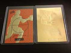 1996 MICHAEL JORDAN Fleer Court Masters  FEEL THE GAME  NBA 23K GOLD Card