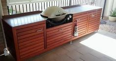 weber q wooden stand - Google Search