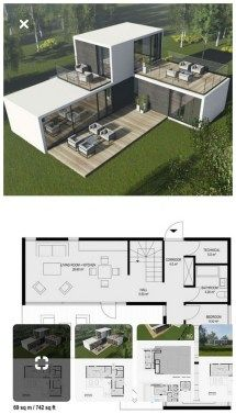 Ideas Shipping Container Homes Plans Layout Ideas Tiny House for Contein. - Ideas Shipping Container Homes Plans Layout Ideas Tiny House for Conteiner house in 45 Shipping Container Home Designs, Container House Design, Small House Design, Modern House Design, Container Pool, Shipping Containers, House Design Plans, Shipping Container Cabin, Cargo Container