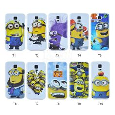 New arrival Fashional Cartoon Despicable Me Yellow Minion pattern hard Cover cute phone case For Samsung galaxy S5 i9600 PT1418