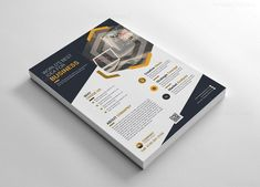 This corporate flyer is designed in Photoshop & Illustrator in PSD & EPS formats. The template includes help file and Photoshop Invoice Design, Graphic Design Templates, Creative Flyer Design, Creative Flyers, Cool Business Cards, Creative Business, Business Flyers, Company Profile Template, Letterhead Template