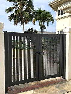 Home Gate Design, House Main Gates Design, Grill Gate Design, Fence Gate Design, Front Gate Design, Steel Gate Design, Door Design, Gate Designs Modern, Modern Fence Design
