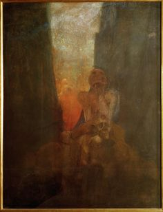 Alfons Maria Mucha, The Abyss  Musée d'Orsay, Paris  Date: 1898-99  Technique: Pastel