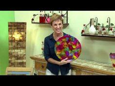 Eu Amo Arte - Filtros Melitta e Rosely Ferraiol - Sousplat colorido vitrificado.