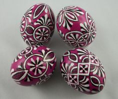 Purple hand painted Easter egg