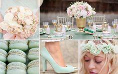 Mint Green & Gold #wedding inspiration & ideas