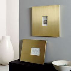 Graphic Gallery Frames - Brushed Brass | west elm