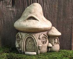 #Carruth Mushroom #Fairy #Cottage, perfect for your #fairy #garden #handcrafted #madeinAmerica #weatherproof #gift