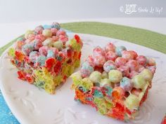 Trix Krispie Treats...These are SO GOOD! I make them a lot! The recipe calls for 12 cups of Trix, but I found it was too much cereal for the amount of marshmallow mixture, so I buy the 10.7 ounce box of Trix (which is about 9 cups) and it seems to be the PERFECT amount!