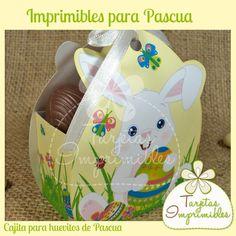 Cajita para huevitos de Pascua para imprimir: http://www.tarjetasimprimibles.com.ar/colecciones/1850/pascuas/