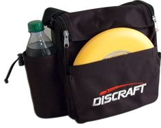 Discraft Weekender Disc Golf Bag by Discraft. $15.95. The Discraft Weekender Bag is quality gear at an affordable price. Holds 6-8 discs, with putter pocket, padded shoulder strap, bottle pouch, inner zip pocket, zippered and velcro rain cover.