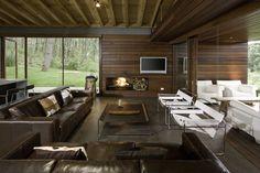 wood for the man cave. Ro House Tapalpa / Elías Rizo Arquitectos