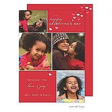Valentine Cubes Flat Photo Card