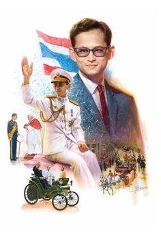 ผลงานของเปี๊ยก โปสเตอร์หรือสมบูรณ์สุข นิยมศิริศิลปินแห่งชาติ สาขาศิลปะการแสดง (ภาพยนตร์และละครโทรทัศน์) ประจำปี 2558 King Of Kings, My King, King Queen, King Painting, King Rama 9, Bhumibol Adulyadej, Thai Art, Name Cards, History