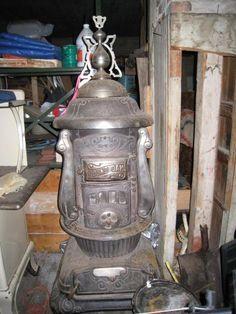 Antique Round Oak Duplex Parlor Stove | Stove, Parlour and Rounding