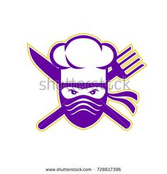 Find Icon Style Illustration Ninja Chef Cook stock images in HD and millions of other royalty-free stock photos, illustrations and vectors in the Shutterstock collection. Thousands of new, high-quality pictures added every day. Signages, Fork, Ninja, Royalty Free Stock Photos, Symbols, Logos, Cooking, Illustration, Kochen
