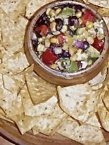 """Yum this """"Skinny Mom, Skinny Black Bean and Avocado Dip"""" is absolutely delicious! It's a must have when making a Mexican dinner, or just enjoying some chips and salsa!"""