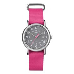 Brand New Timex Weekender Slip Through Mid Size - Pink... >>> Click image to review more details.