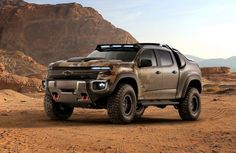 Colorado (Military Truck) WIKI: GM Defense and U. Army TARDEC partnered in 2016 to develop and successfully test the Chevrolet Colorado fuel Chevrolet Colorado, Chevrolet Tahoe, Best American Cars, Car Finder, Overland Truck, Chevy Silverado, Chevy Trucks, Military Vehicles, Offroad