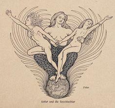 Fidus - Natur und die Geschlechter