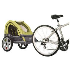 Single Bike Trailer. We definitely need one of these to take Isabella!!!