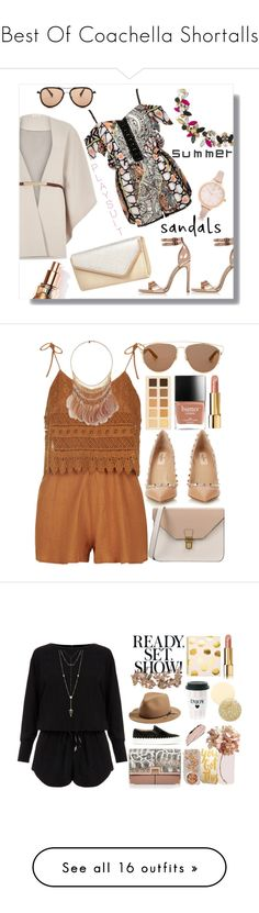 """Best Of Coachella Shortalls"" by egordon2 ❤ liked on Polyvore featuring River Island, G-Star Raw, Topshop, 8, Valentino, Miss Selfridge, Christian Dior, LORAC, Chanel and Helmut Lang"