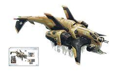 A.I.M. Dropship Picture (2d, sci-fi, spaceship)
