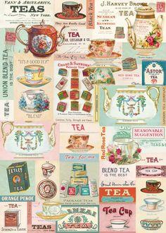 Cavallini Decorative Paper - Vintage Tea