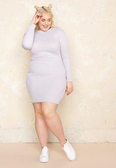 Ribbed Body Con Dress £32.00  Plus Size Fashion <3  |  One One Three  |  Sizes 18-26