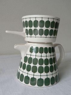Rare Melitta Germany filter coffee maker coffee pot tea green mid-century 1960s  #Melitta