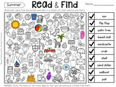 Read & Find Hidden Picture Activities - great reading fun for the whole year!