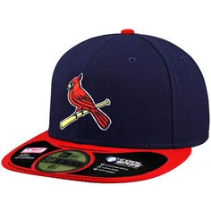 Men s St. Louis Cardinals New Era Navy Authentic CollectionOn-Field 59FIFTY  Performance Fitted Hat - Alt 2 60a3a6daaee6