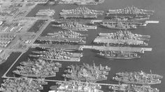 Mothballed ships after WWII, incredible