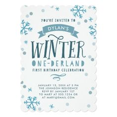Gold and Pink Winter Onederland First Birthday Card - birthday invitations diy customize personalize card party gift