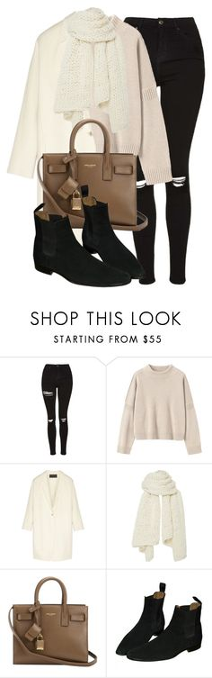 """""""Untitled #11842"""" by vany-alvarado ❤ liked on Polyvore featuring Topshop, Toast, Donna Karan, I Love Mr. Mittens and Yves Saint Laurent"""