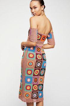 Slide View 2: Racing Hearts Crochet Midi Dress