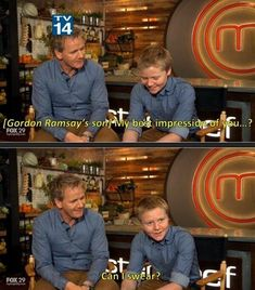 Gordon Ramsay's son best impression…