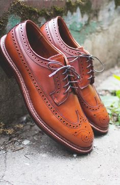Leather Brown Color Oxford Wing Tip Full Brogues Toe Lace up Shoes 4 Men - Dress/Formal Fancy Shoes, Trendy Shoes, Lace Up Shoes, Cute Shoes, Casual Shoes, Shoes Heels, Footwear Shoes, Prom Shoes, Louboutin Shoes