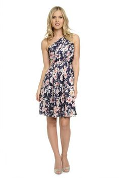 Shop Dove & Dahlia Bridesmaid Dress - Georgia Print in Poly Charmeuse at Weddington Way. Find the perfect made-to-order bridesmaid dresses for your bridal party in your favorite color, style and fabric at Weddington Way.