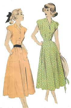Details about vintage sewing pattern teenage tea dress p 1940s Tea Dress, 1940s Dresses, Vintage Tea Dress, 1940s Fashion Dresses, Tea Dresses, Flapper Dresses, 50s Vintage, Retro Fashion, Vintage Fashion