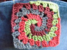 Spiral Granny Square crochet