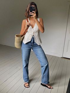 The Classic Trends You Can Buy for Under $100 at Nordstrom Basic Wardrobe Essentials, Wardrobe Basics, Classic Fashion Trends, Tan Strappy Sandals, Square Neck Top, Basic Tees, Who What Wear, Affordable Fashion, Bell Bottom Jeans